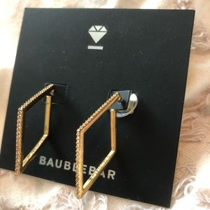 BAUBLEBAR EARRINGS GOLD AND CUBIC ZIRCONIA